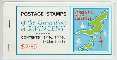 XG-AE473 ST VINCENT & GRENADINES IND - Maps, 1976 Bequia Island MNH Booklet