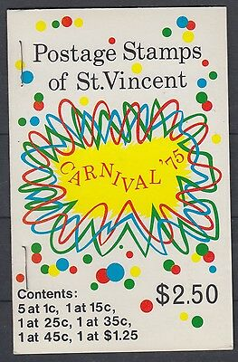 XG-AE413 ST VINCENT - Costumes, 1975 Carnival, Folklore MNH Booklet