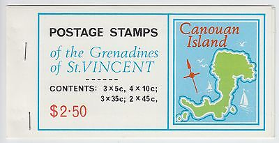 XG-AE474 ST VINCENT & GRENADINES IND - Maps, 1976 Canouan Island MNH Booklet