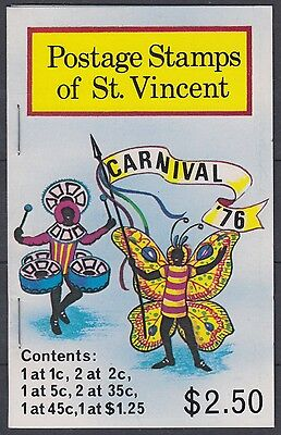 XG-AE414 ST VINCENT - Costumes, 1976 Carnival, Folklore MNH Booklet