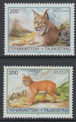 XG-BA989 TAJIKISTAN - Wild Animals, 1996 Wwf Set, High Values MNH