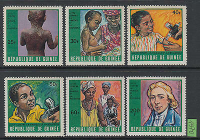 XG-P072 GUINEA - Medicine, 1970 Against Smallpox, Children Health MNH Set