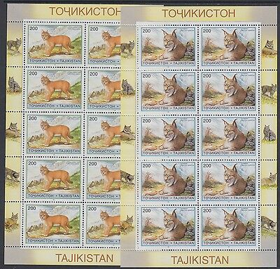 XG-BA991 TAJIKISTAN - Wild Animals, 1996 Wwf Set, High Values 2 Sheets MNH
