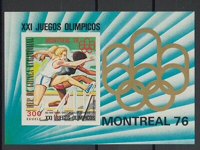 XG-S772 EQ. GUINEA - Olympic Games, 1976 Canada Montreal, Imperf. MNH Sheet