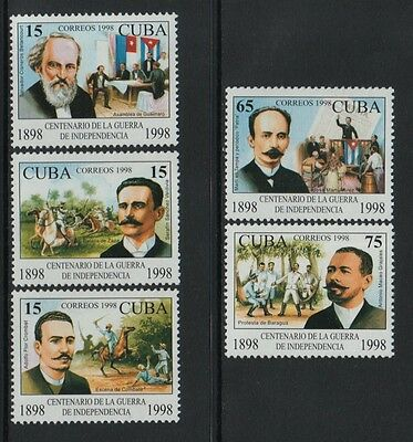 XG-P512 HAVANA - History, 1998 Independence War Centenary MNH Set