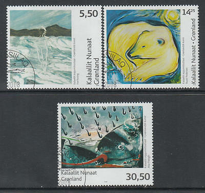 XG-R312 GREENLAND - Paintings, 2008 Modern Art, Special Cancel Used CTO Set