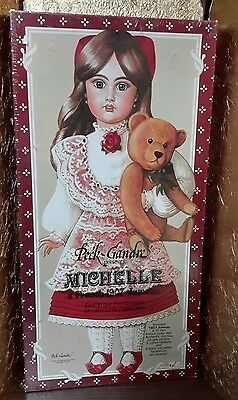 "1983 Peck-Gandre Paper Doll / Michelle / French 1907 Jumeau / 20"" uncut mint"
