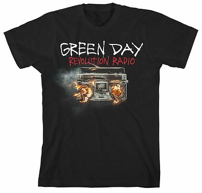 Green Day T Shirt Revolution Radio Cover Official Black Mens Unisex Rock Merch
