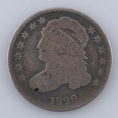 1829 Capped Bust Silver Dime 10c (G) Good Condition