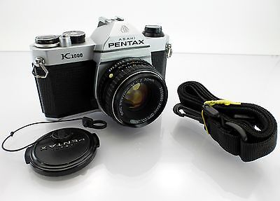 Asahi Pentax K1000 Film Camera with Pentax-M 50mm Lens Japan 1979 Used