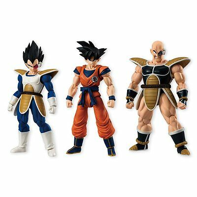 Bandai Dragon Ball Z Shodo 4 Goku Vegeta And Napa Action Figures Set NEW Toys