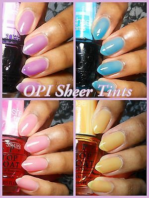 OPI **SHEER TINTS** Color Collection Nail Polish Lacquer Pink Blue Yellow Purple