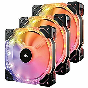 Corsair HD Series, HD120 RGB LED, 120mm High Performance RGB LED PWM three fans