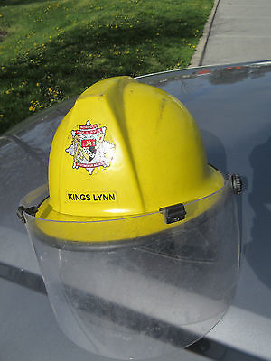 British FIREFIGHTER HELMET with Faceshield Cromwell F500L Size 53-62 Adjustable