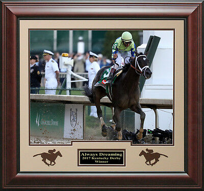 Always Dreaming 2017 Kentucky Derby Winner Heading for Home 16x20 Photo with Sil