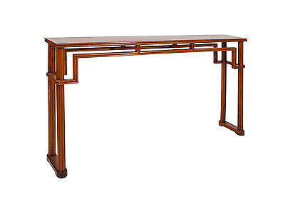 Chinese Hainan HuangHuali Solid Top panel console Table