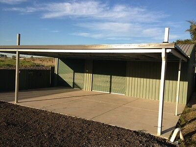 Colourbond Shed/Garage with Awning