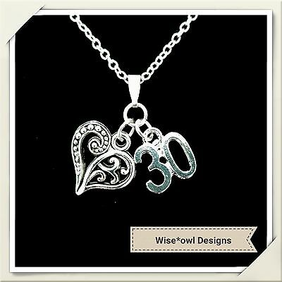 30Th Birthday Gift Necklace.various Charms.sterling Silver Chain Option.gift Box