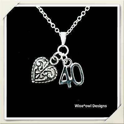 40Th Birthday Gift Necklace.various Charms.sterling Silver Chain Option.gift Box