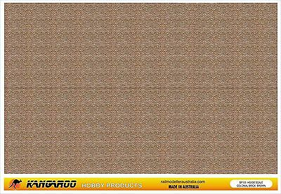 HO OO Scale Brick Paper 4 Sheets professionally printed Colonial brick A4 size