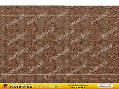 HO OO Scale Brick Paper 4 sheets Weathered Brick A4 Size Professionally Printed