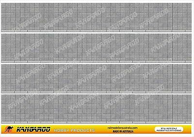 HO OO Scale Footpath Paving  4 sheets A4 size Professionally Printed