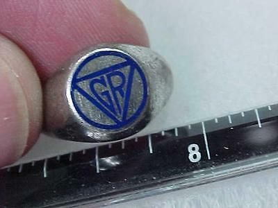 GR Sterling Vintage Old Ring YMCA G.R.  (15i1)