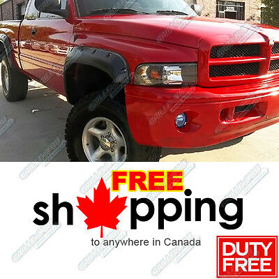94-01 Dodge Ram (Full Size Only) Pocket-Riveted Style Fender Flares 4pcs Set
