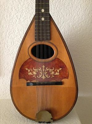 107 Yr Old Antique Mandolin Manufacturer Globe Musical Instrument 1910 Beautiful