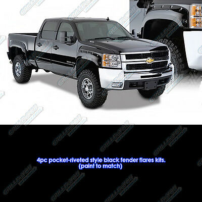 Magnus Pocket Riveted ABS Fender Flares 4Pcs Fits 07-13 Chevrolet Silverado