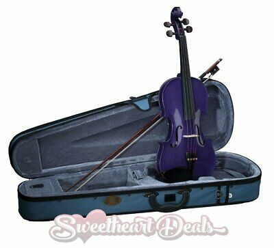 Stentor Harlequin Full Size 4/4 Student Violin Purple Indigo with Case & Bow