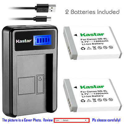 Kastar NB-6L NB6L Battery Charger for Canon PowerShot SX510 HS SX600 HS SX700 HS
