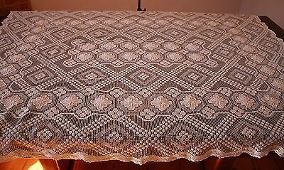 Crocheted Lace Table Cloth.