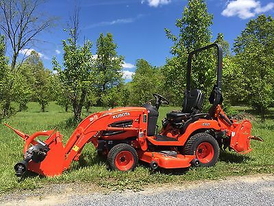 2013 Kubota Bx2670 4X4 Tractor Loader Mower,post Hole Digger And Rototiller