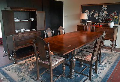 A 1920s to 1930s Jacobean Dining Set