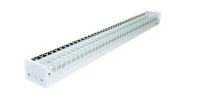 LED T8 Fluorescent 4 Foot Cage Batten Lights 18w 3600 Lumens Single or Double