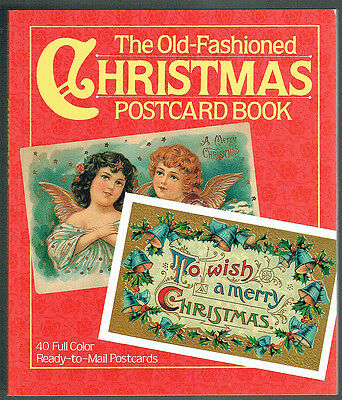 The Old - Fashioned Christmas Postcard Book, 40 Full Color Cards, New.