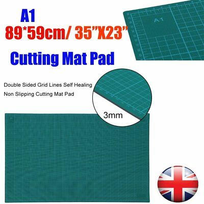"""A1Cutting Mat Board Double Sided Self Healing Non Slip Printed Grid Lines 35x23"""""""