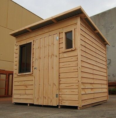 SKILLION SHED by Design A Shed - Solid Timber MADE IN MELB (1800x2400) 6'x8' NEW