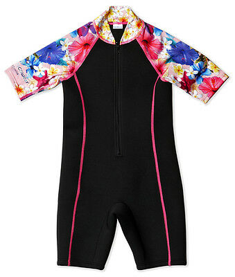 Girls Wetsuit Neoprene and Chlorine Resistant. Sizes 4, 6, 8  & 10 years