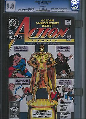 Action Comics # 600 CGC 9.8  White Pages. UnRestored.