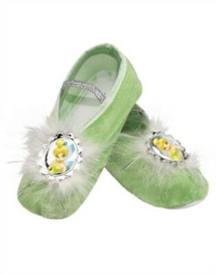 Disney Tinker Bell Costume Accessory Green Child Shoe Ballet Slippers