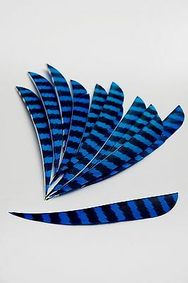12 x 4inch Parabolic Barred Turkey Feather Fletching
