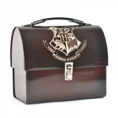 Harry Potter : HOGWARTS CREST Tin Tote Domed Lunch Box from Half Moon Bay