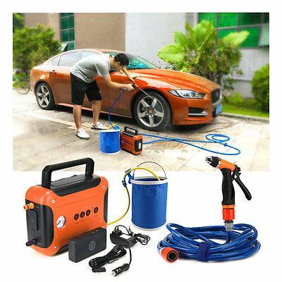 Car Multifunction Electric Pressure Washer Tire Inflator LED Illumination 80PSI