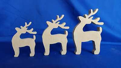 18mm freestanding Reindeer set christmas Craft Blank F49