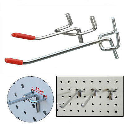 10/25pcs 50/100mm Single Pegboard Hooks Board Slat Wall Retail Display Shop Peg