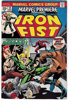 MARVEL PREMIERE #19 (FN-) IRON FIST! 1st Colleen Wing! Netflix! DEFENDERS! 1974