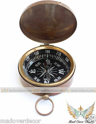 Nautical Vintage Pocket Compass Gift Compass Solid Brass Direction Compass