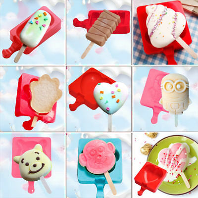 Diy Silicone Ice Pop Moulds Cake Mold Popsicle Chocolate Ice Cube Maker Tray
